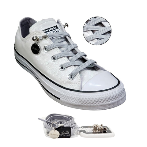 Image of No Tie Shoelaces by Qlaces - gray (grey)