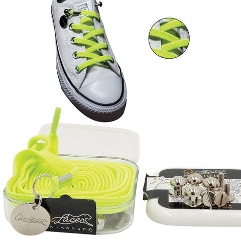 neon green no tie shoelaces for kids