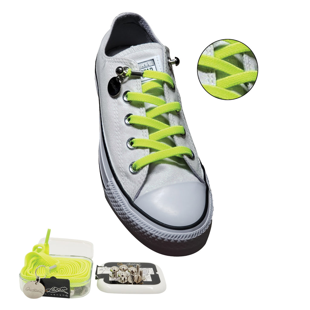 d3fa2c077cfdaf Green Yellow No Tie Shoelaces for Adults   Kids. Hover to zoom