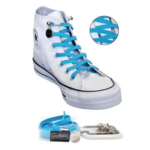 No Tie Shoelaces by Qlaces - light blue