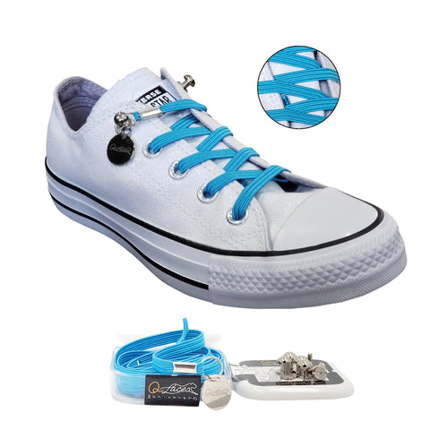 Image of No Tie Shoelaces by Qlaces - light blue