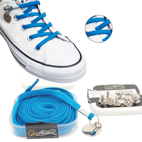 QLaces® Elastic No Tie Shoelaces for Adult & Kid Sneakers (11 colors)