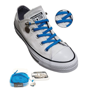 Light Blue No Tie Shoelaces for Adults & Kids