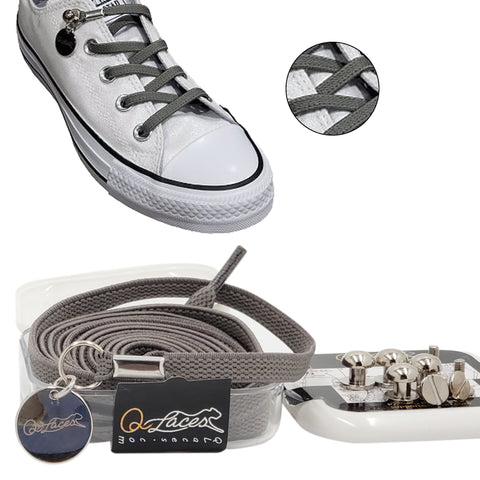 gray no tie shoelaces for kids