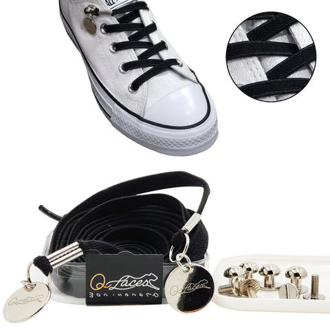 black no tie shoelaces for kids