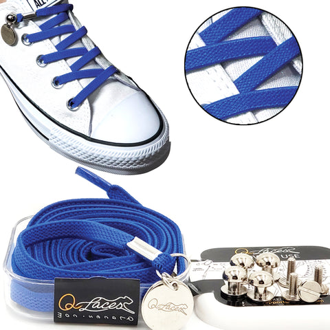 blue no tie shoelaces for kids