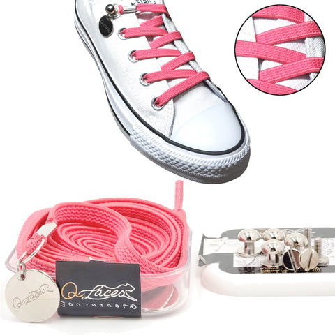 pink no tie shoelaces for kids