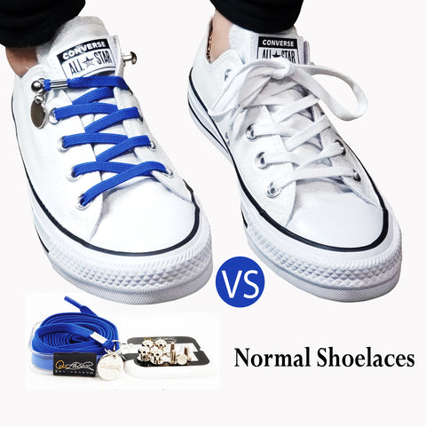 Image of Royal Blue Nylon Elastic No Tie Shoelaces for Adults & Kids, Sneakers, Shoes