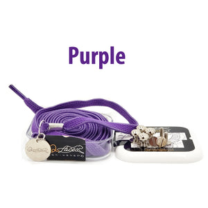 Purple Nylon Elastic No Tie Shoelaces for Adults & Kids