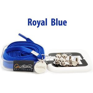 Royal Blue Nylon Elastic No Tie Shoelaces for Adults & Kids