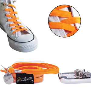 Orange Polyester Elastic No Tie Shoelaces for Adult & Kid, Sneakers, Shoes