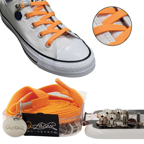orange no tie shoelaces for kids