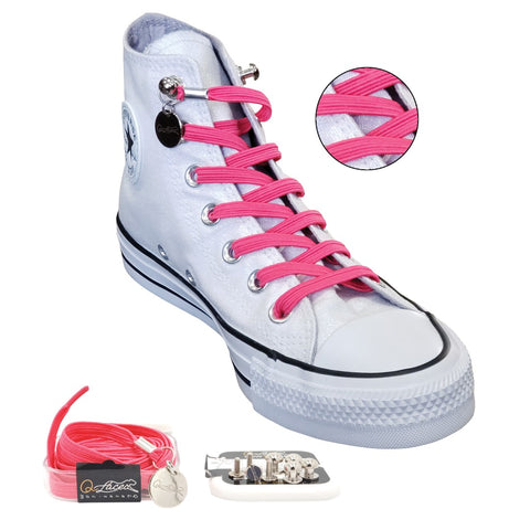 Image of No Tie Shoelaces by Qlaces - pink