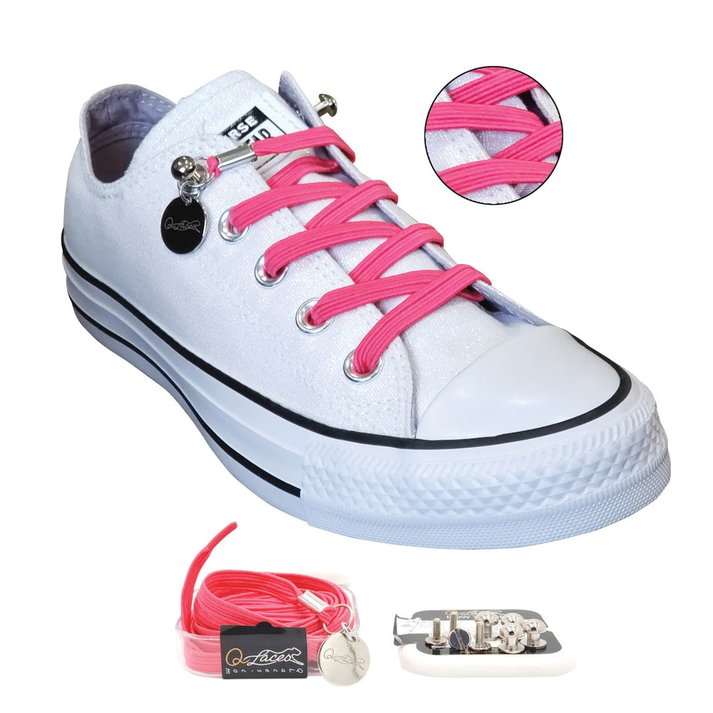 No Tie Shoelaces by Qlaces - pink