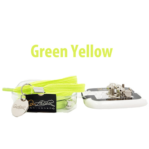 Image of No Tie Shoelaces by Qlaces - green yellow