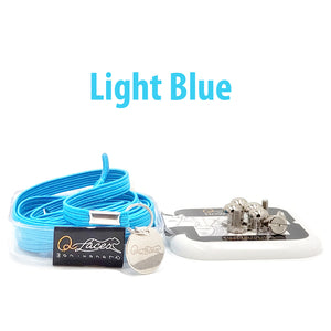 Light Blue Polyester Elastic No Tie Shoelaces for Adults & Kids