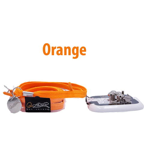 Image of No Tie Shoelaces by Qlaces - neon orange