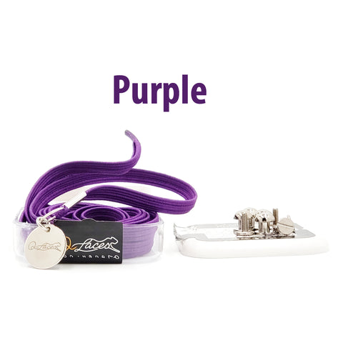 No Tie Shoelaces by Qlaces - purple