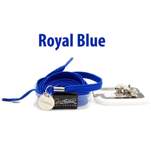Royal Blue Polyester Elastic No Tie Shoelaces for Adults & Kids