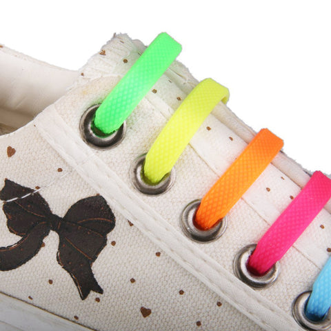 Qlaces Silicone No Tie Shoelaces for Kid Sneakers or Shoes, Come in 6 pairs (12 pieces)