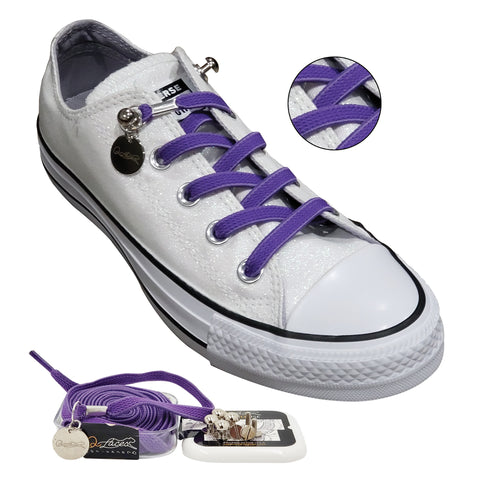 Image of Purple No Tie Shoelaces for Adults & Kids