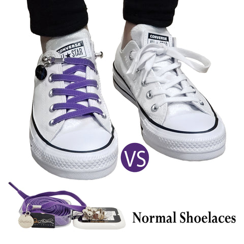 Purple No Tie Shoelaces for Adults & Kids