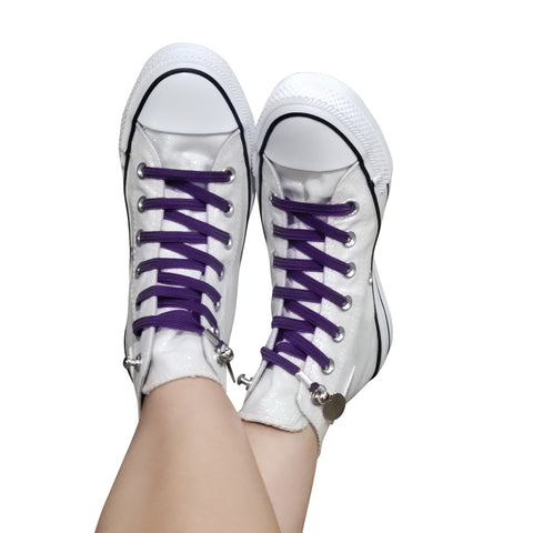 Image of No Tie Shoelaces by Qlaces - purple