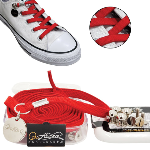 red no tie shoelaces for kids