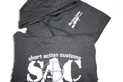 Gray Short Action Customs Hoodies