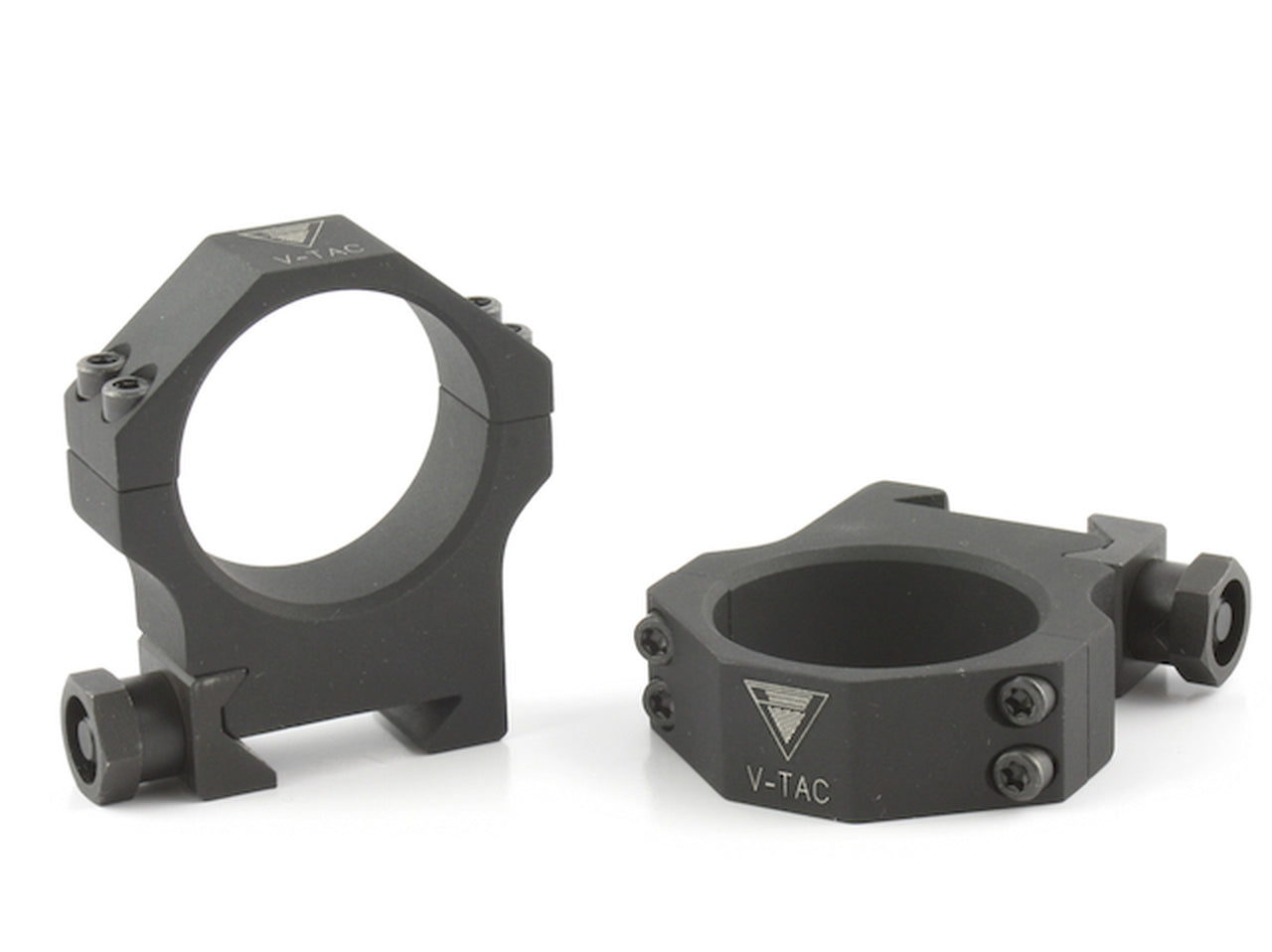 HD 35MM TACTICAL V-TAC RINGS, STEEL OR ALLOY, MED.