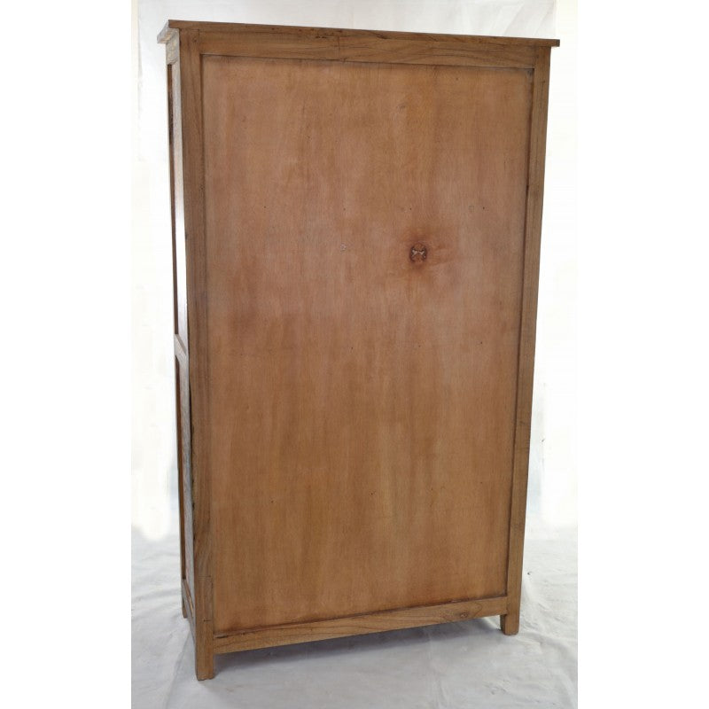 Bjóra Solid White Cedar Wood Rustic Tall Freestanding Larder Cupboard