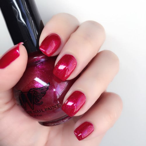 """Hearts on Fire"" Shape Shifter Line 7 Free, Vegan, Cruelty-Free Nail Paint Polish"