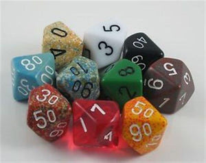 Polyhedral Dice: 10-sided - Random Color