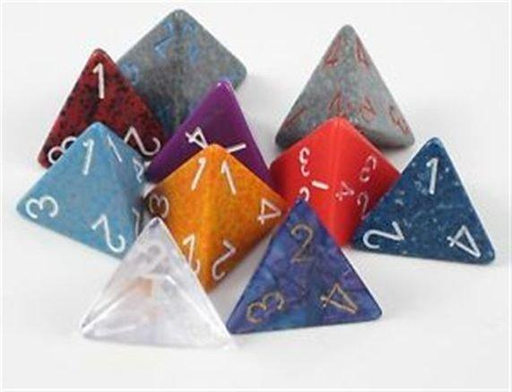 Polyhedral Dice: 4-sided - Random Color