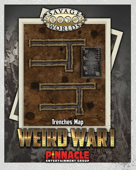 Savage Worlds: RPG: Weird War I: Bridge/Trenches Map Set