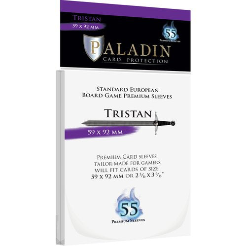 Paladin Card Sleeves: Tristan (59 × 92 mm, Standard European)