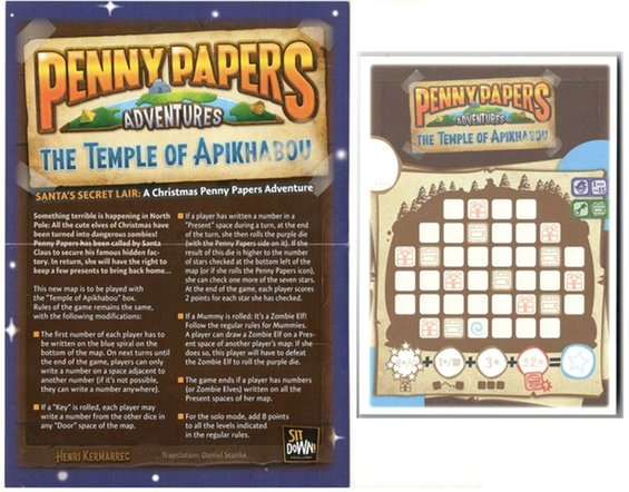 Penny Papers Adventures: The Temple of Apikhabou – Santa's Secret Lair Promo