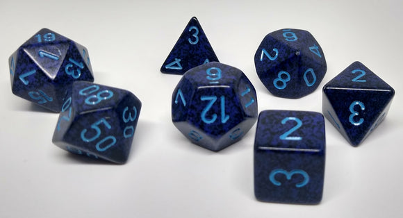 Chessex 25307 Speckled: Cobalt - Polyhedral (7 Dice)
