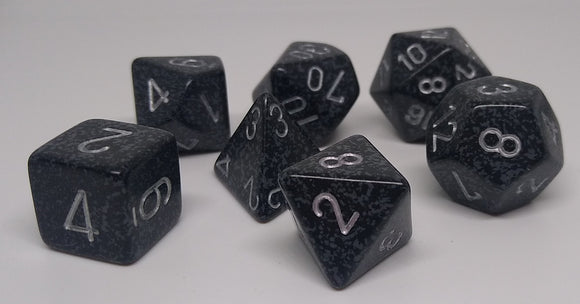 Chessex 25318 Speckled: Ninja - Polyhedral (7 Dice)