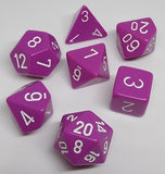 Chessex 25427 Opaque: Light Purple/White - Polyhedral (7 Dice)