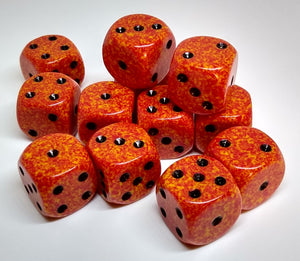 Chessex 25703 Speckled: Fire - 16mm D6 (12 Dice)