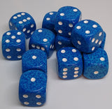 Chessex 25706 Speckled: Water - 16mm D6 (12 Dice)