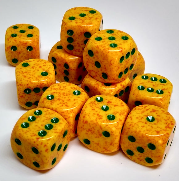 Chessex 25712 Speckled: Lotus - 16mm D6 (12 Dice)