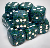 Chessex 25716 Speckled: Sea - 16mm D6 (12 Dice)