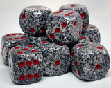 Chessex 25720 Speckled: Granite - 16mm D6 (12 Dice)