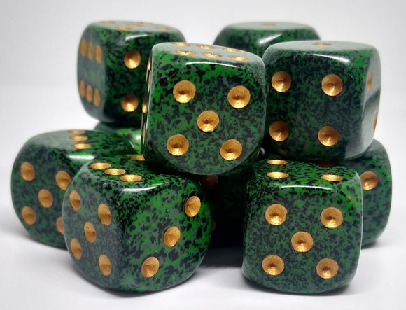 Chessex 25735 Speckled: Golden Recon - 16mm D6 (12 Dice)