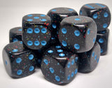 Chessex 25738 Speckled: Blue Stars- 16mm D6 (12 Dice)