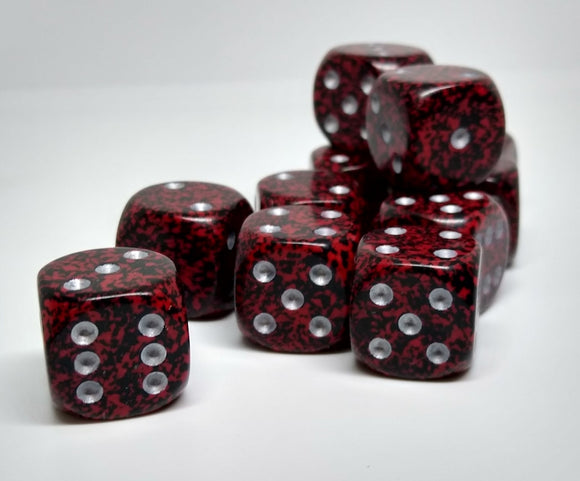 Chessex 25744 Speckled: Silver Volcano - 16mm D6 (12 Dice)