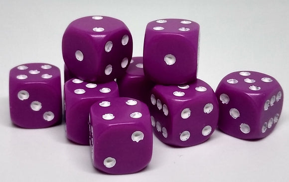 Chessex 25827 Opaque: Light Purple/White - 12mm D6 (36 Dice)