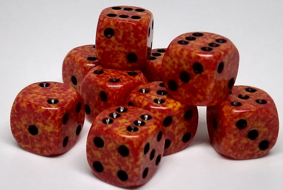 Chessex 25903 Speckled: Fire - 12mm D6 (36 Dice)
